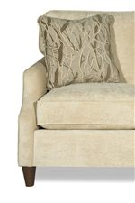 Arms Are Flared and Pleated for a Chic, Feminine Look. Accent Pillows Also Included