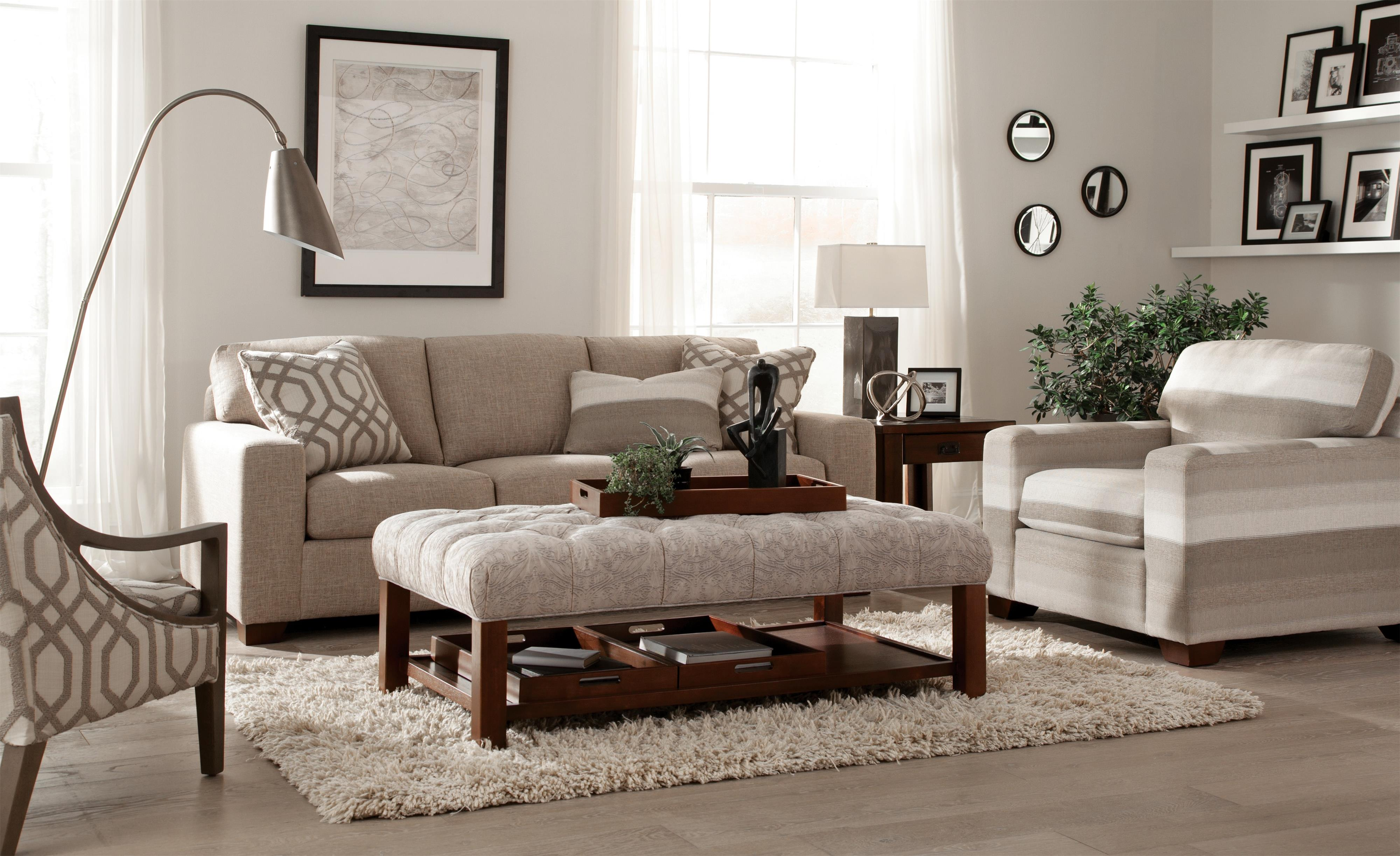 Hickorycraft 758700 Stationary Living Room Group - Item Number: 7587 Living Room Group 1