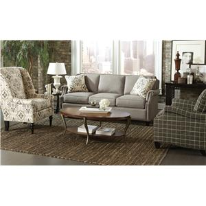 Craftmaster Reed Stationary Living Room Group