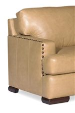 Track Arms with Nailhead Studs and T-Front Cushions for a Chic, Modern Look