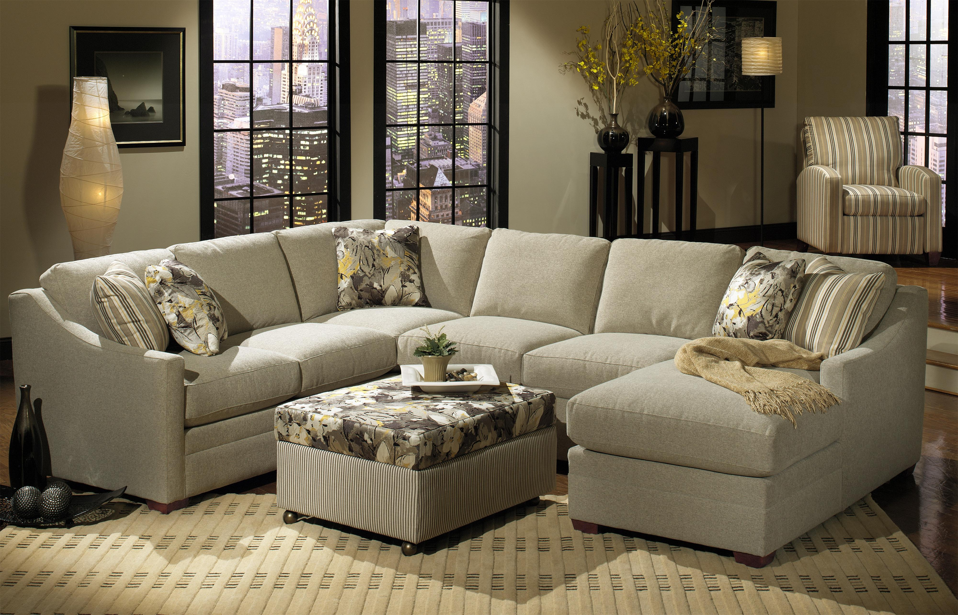 Craftmaster F9 Custom Collection Customizable Three Piece Sectional Sofa with Track Arms and Semi Attached Backs - Turk Furniture - Sectional Sofas Joliet ... : craftmaster f9 sectional - Sectionals, Sofas & Couches