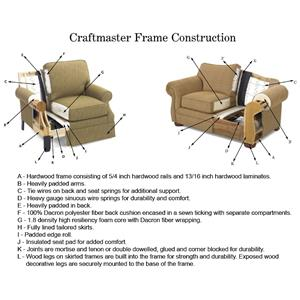 Craftmaster L356450 Reclining Living Room Group