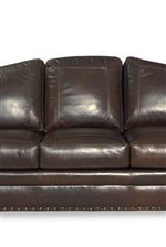 Cushions Arched in the Classic Camelback Style