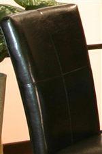 Black Polyurethane Upholstery