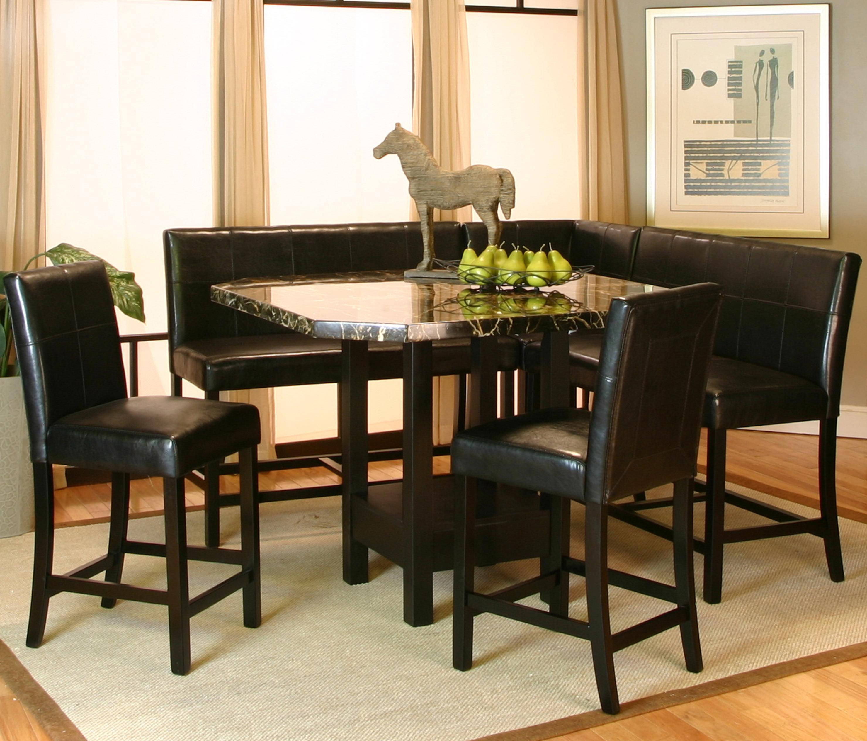 Cramco, Inc Chatham Square Clipped Corner Pub Table W/ Faux Marble Top    Wayside Furniture   Pub Table