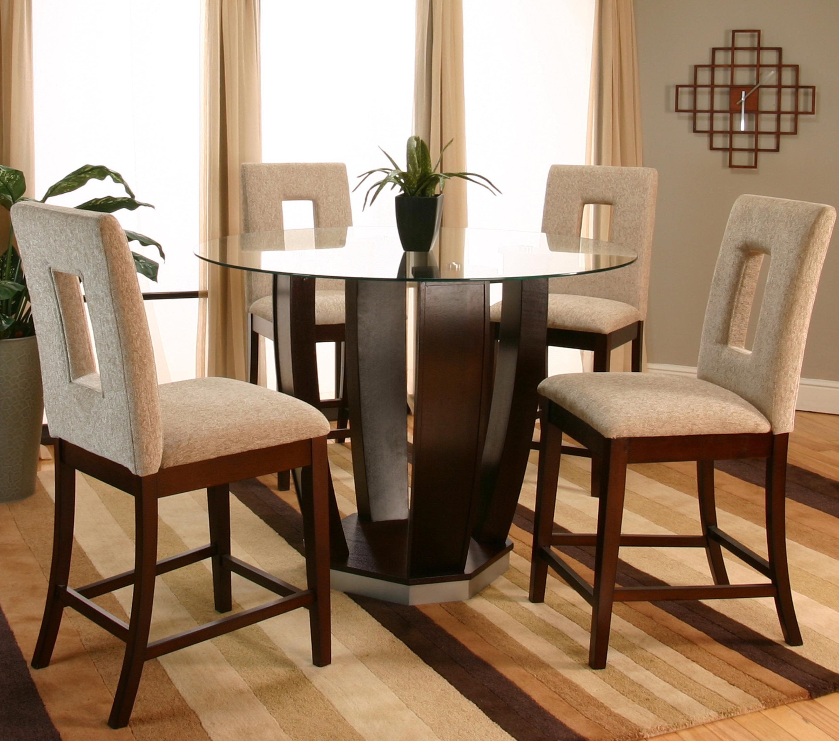 Cramco, Inc Contemporary Design   Emerson Round Tempered Glass Pub Table |  Westrich Furniture U0026 Appliances | Pub Table