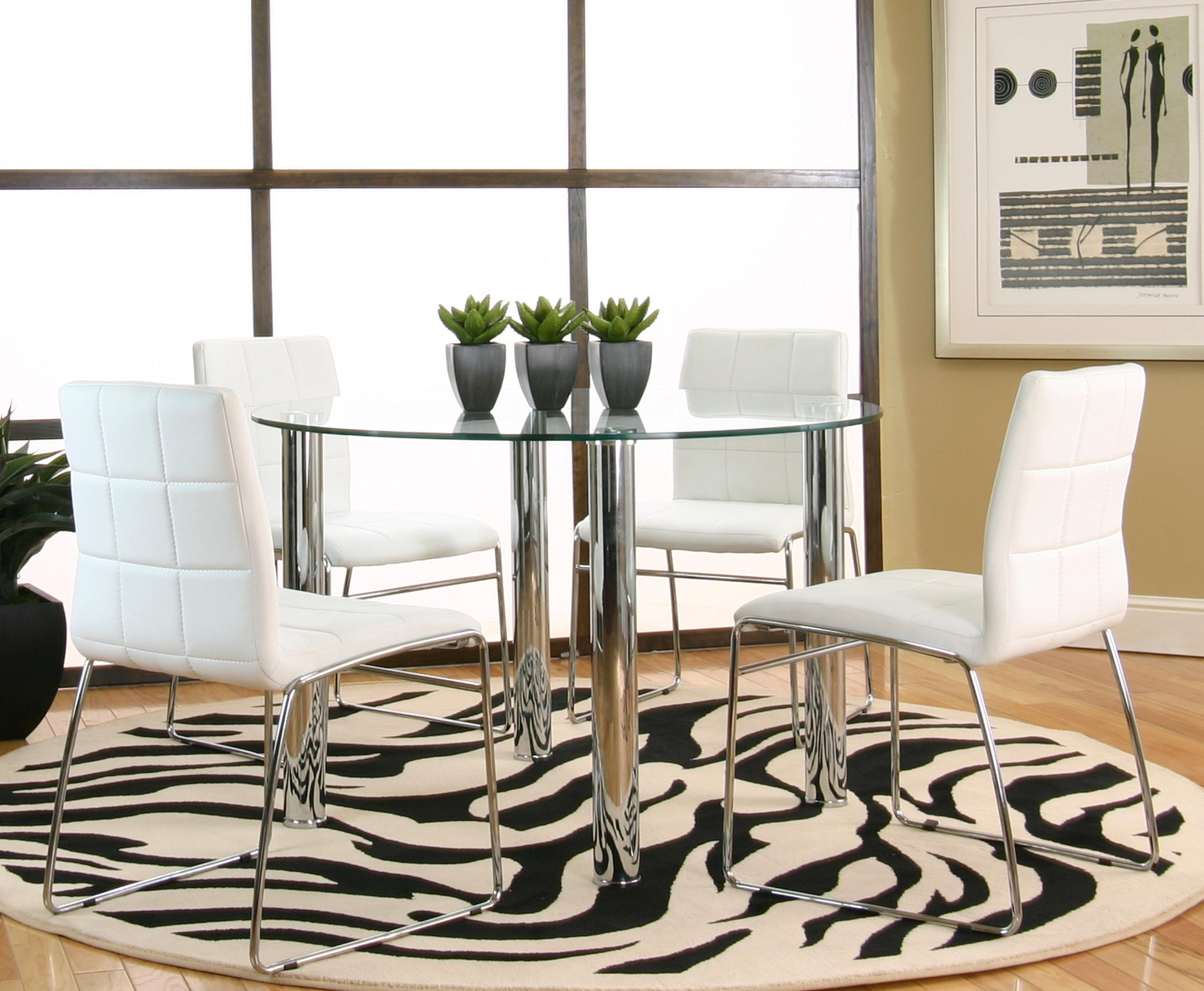 Cramco, Inc Contemporary Design - Napoli Console Table w/ Glass Top ...