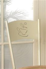 Charming Coffee Cup Motif on Chair Backs