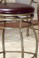 Curved Legs and a Swivel Bottom Give this Stool a Unique Look and Feel.