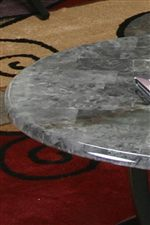 Gray-Toned Faux Marble Table Tops