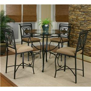 Cramco, Inc Cramco Trading Company - Glendale  Metal Round Table w/ 4 Side Chairs
