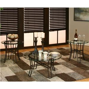 Cramco, Inc Ivana Round Table w/ Beveled Glass Top