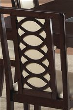 Overlapping Oval Wood Back Chair Design