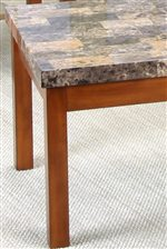 Faux-Marble End Table Top