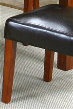 Cordovan-Colored Upholstered Chair Seat