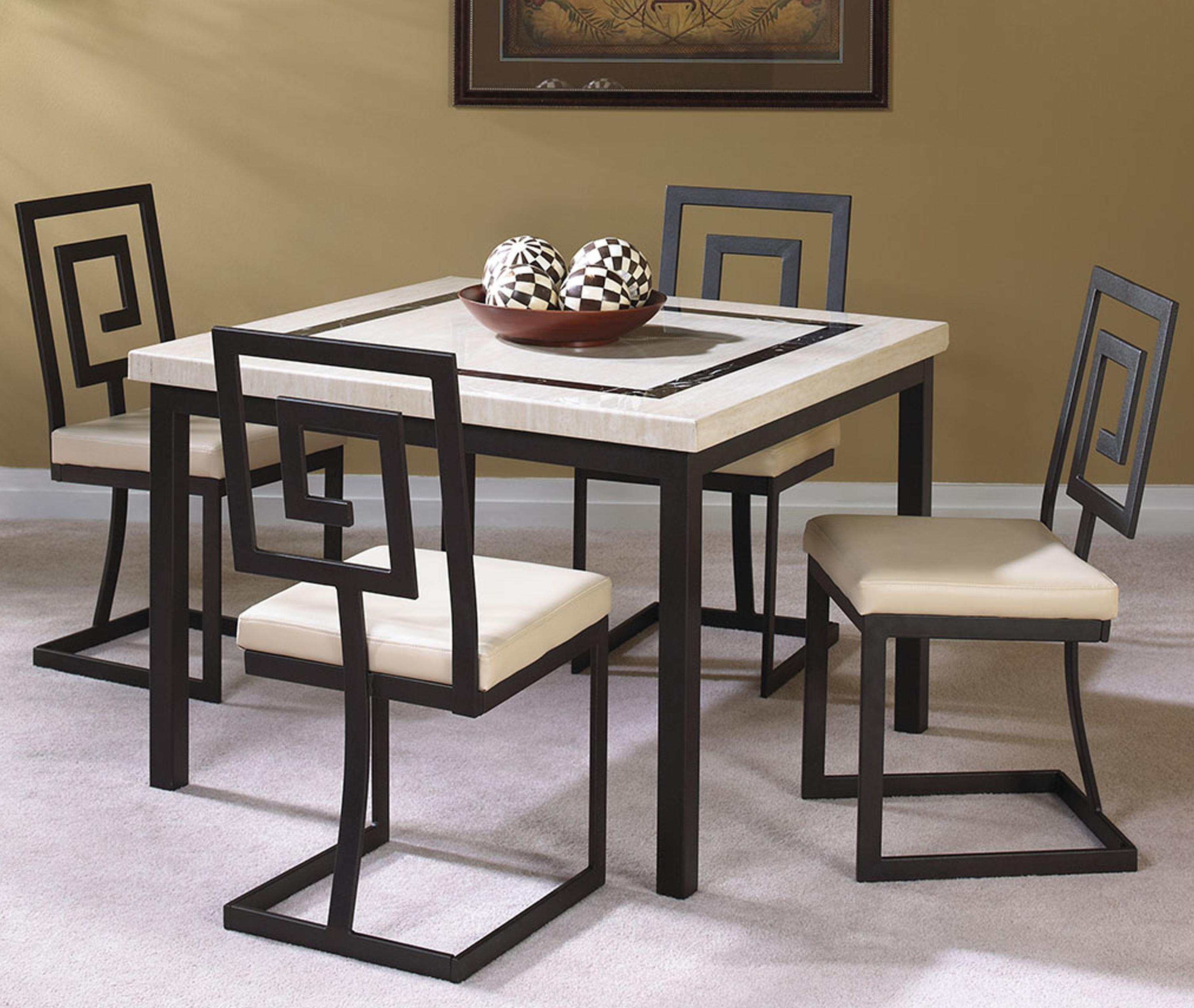 5 Piece Dining Sets cramco, inc maze 5 piece square table and side chair set - value