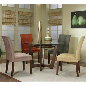 Cramco, Inc Contemporary Design - Parkwood Round Dining Table with Cherry Wood Base