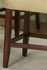 Clean Lines and Subtle Curves of the Cherry Wood Chair Legs Establishes a Contemporary Appeal.