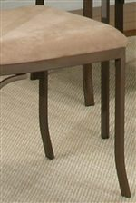 Microsuede Upholstered Chair Seat