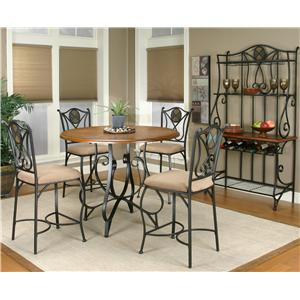 Cramco, Inc Cramco Trading Company - Ravine Round Table w/ Espresso Colored Base
