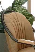 Chenille Chair Back Upholstery with Design