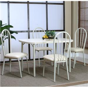 Cramco, Inc Tawny 7 Piece Piece Dining Leg Table and Side Chair Set