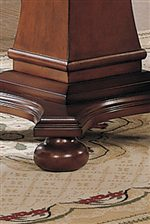 Table's Pedestal Base with Bun Feet