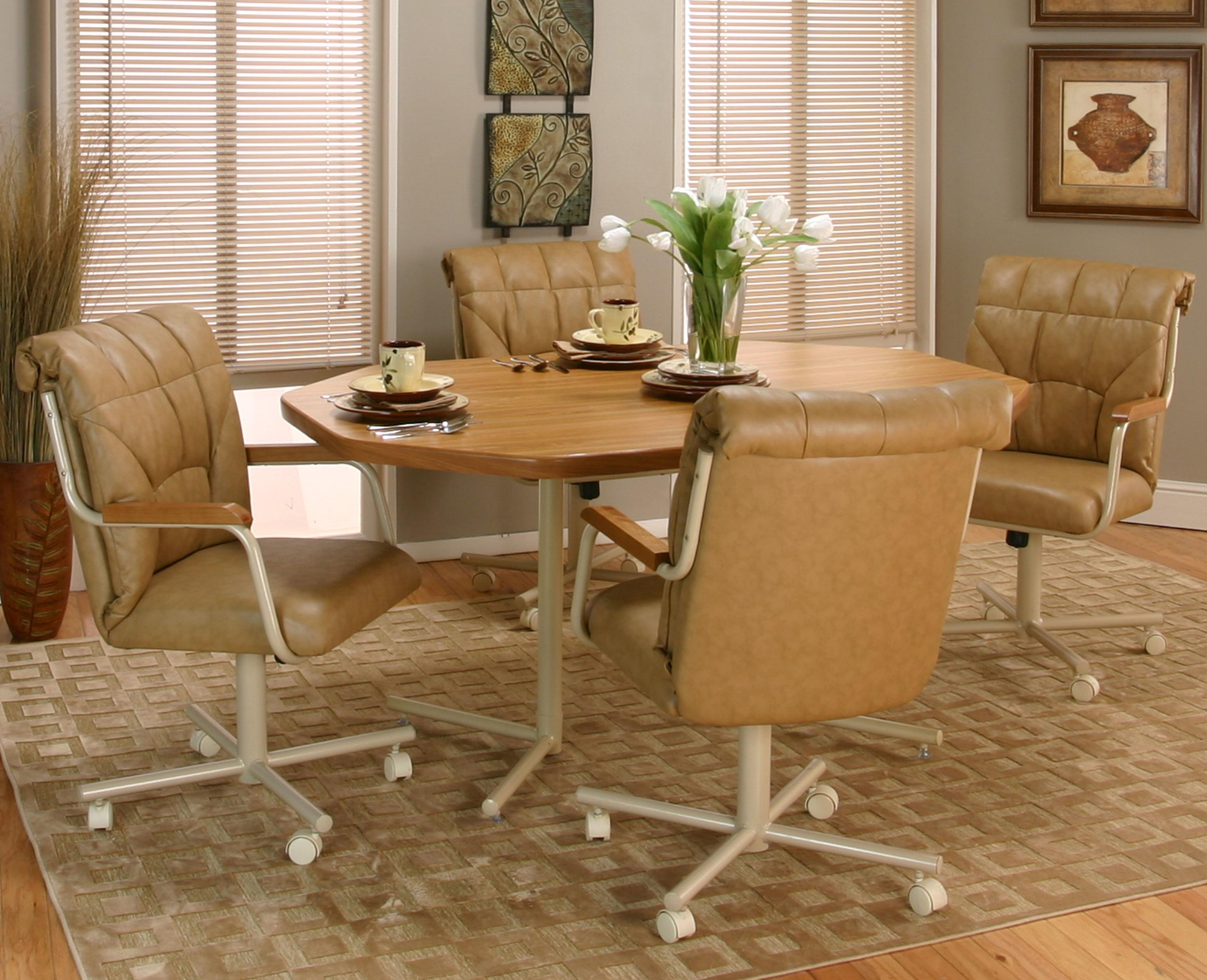 Dining Room Chairs With Casters And Arms 225 Caster Chair Swivel And Tilt Gas Lift 27900