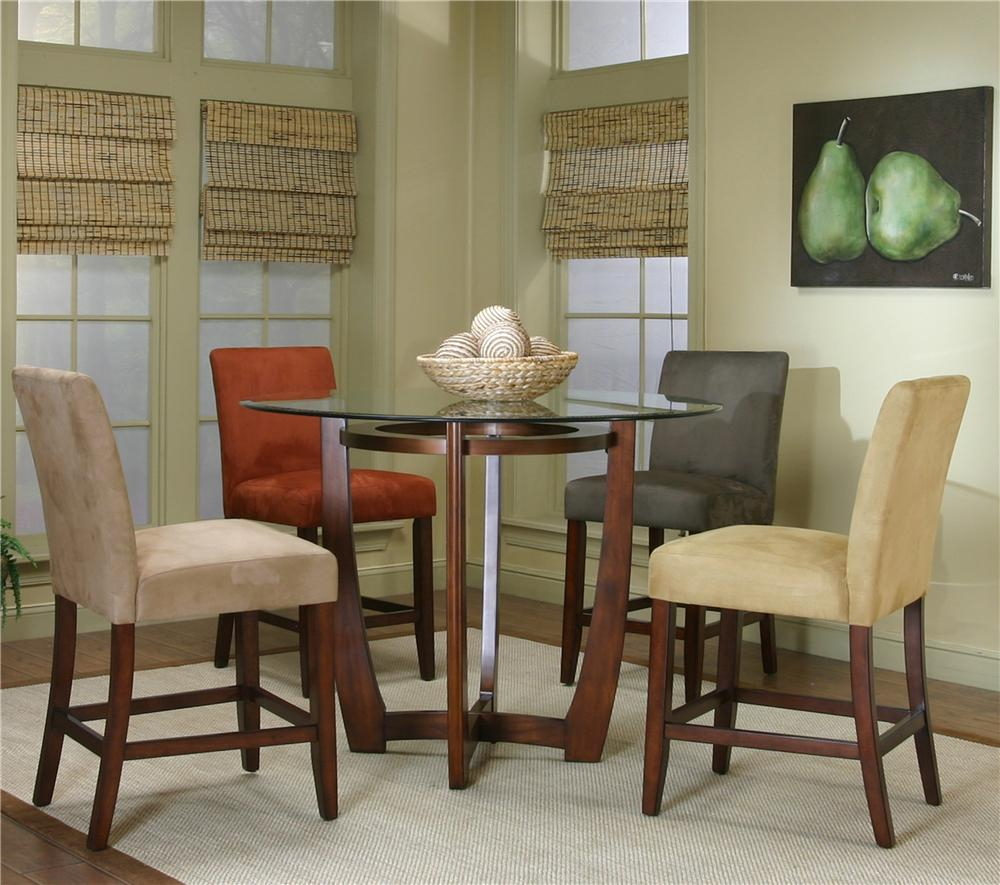 Suede Dining Room Chairs Cramco Inc Contemporary Design Parkwood Round Dining Table And