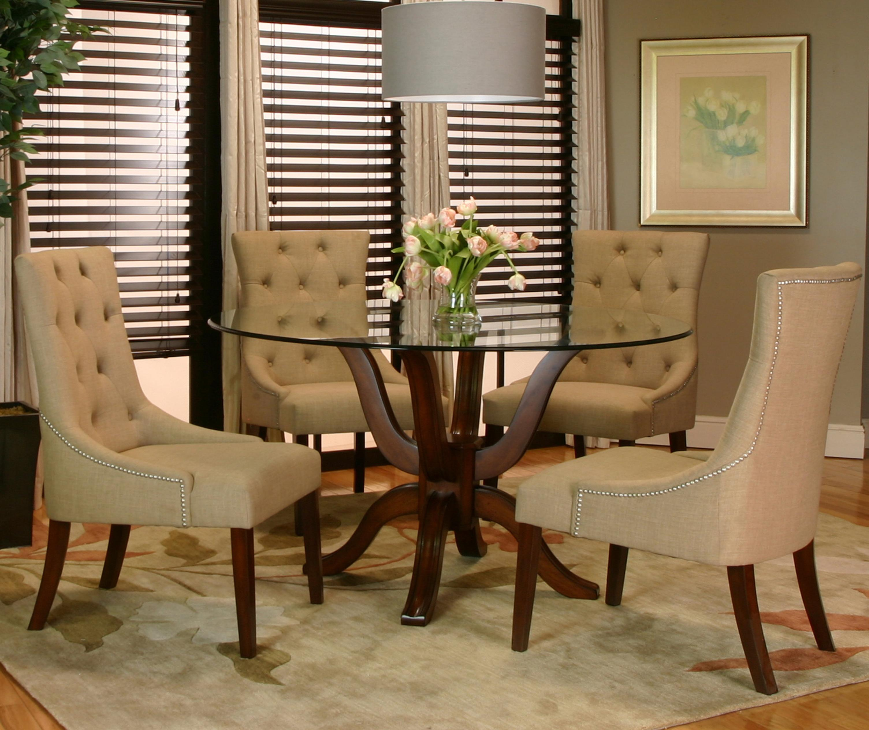 4 Leather Dining Room Chairs. Room Leather Dining And. Dining Room ...