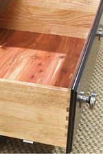 Dovetail Construction and Cedar Lining are Found on the Drawers