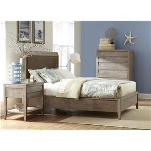 Cresent Fine Furniture Corliss Landing Contemporary King Upholstered Double Sided Storage Bed