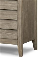 Case Pieces Feature Drawers with Fingertip Pulls & Short Tapered Feet