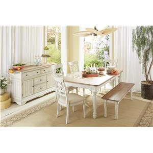 Cresent Fine Furniture Cottage Casual Dining Room Group