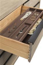 Felt-Lined Jewelry Tray