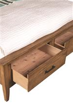 Cresent Fine Furniture Lockeland King Panel Bed in Dry Wheat Finish