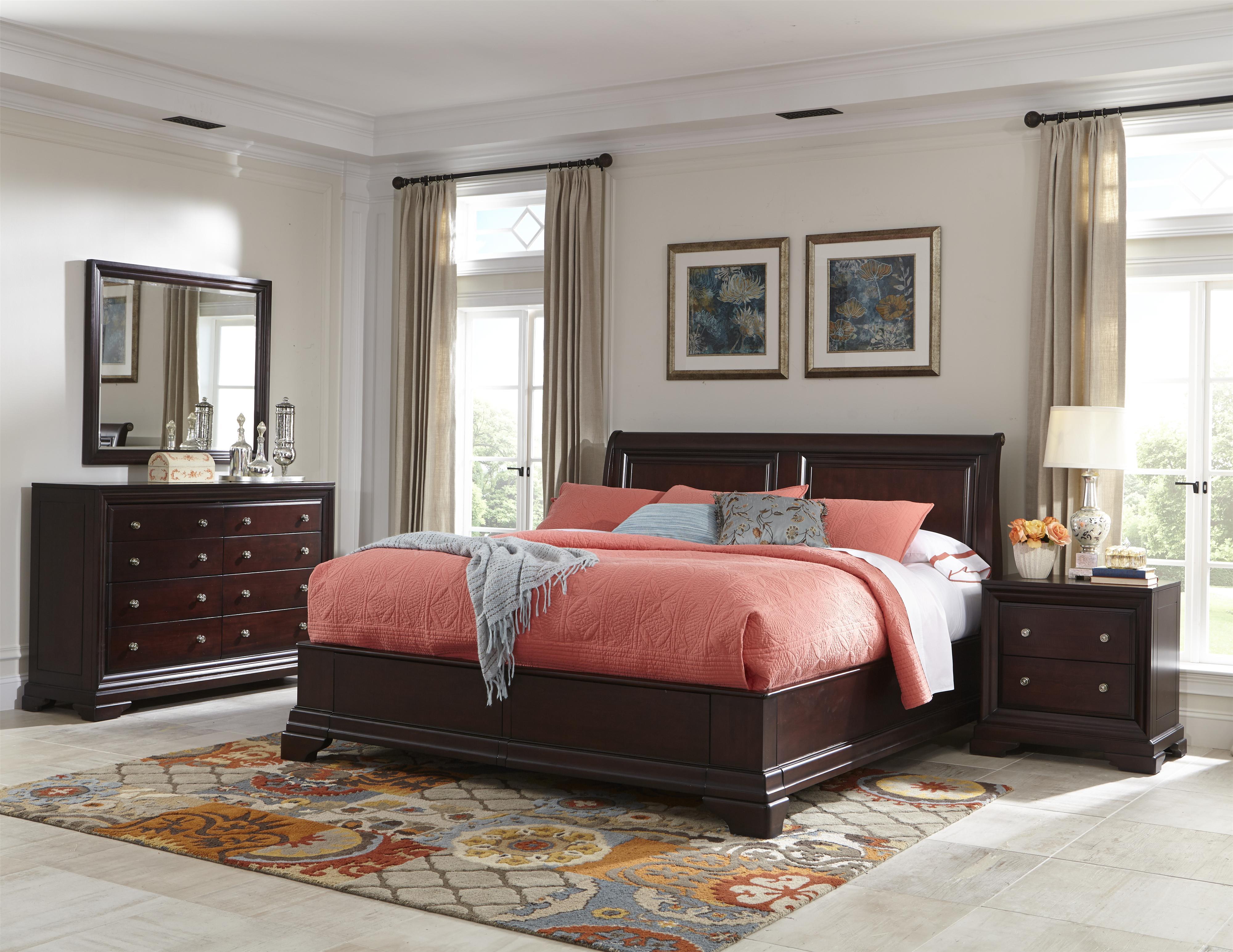 Cresent Fine Furniture Newport Queen Bedroom Group - Item Number: 1800 Q Bedroom Group 3