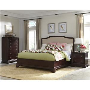 Cresent Fine Furniture Newport King Upholstered Bed w/ Storage