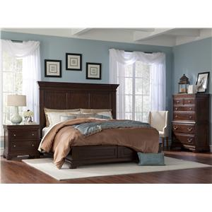 Cresent Fine Furniture Provence King Traditional Sleigh Bed