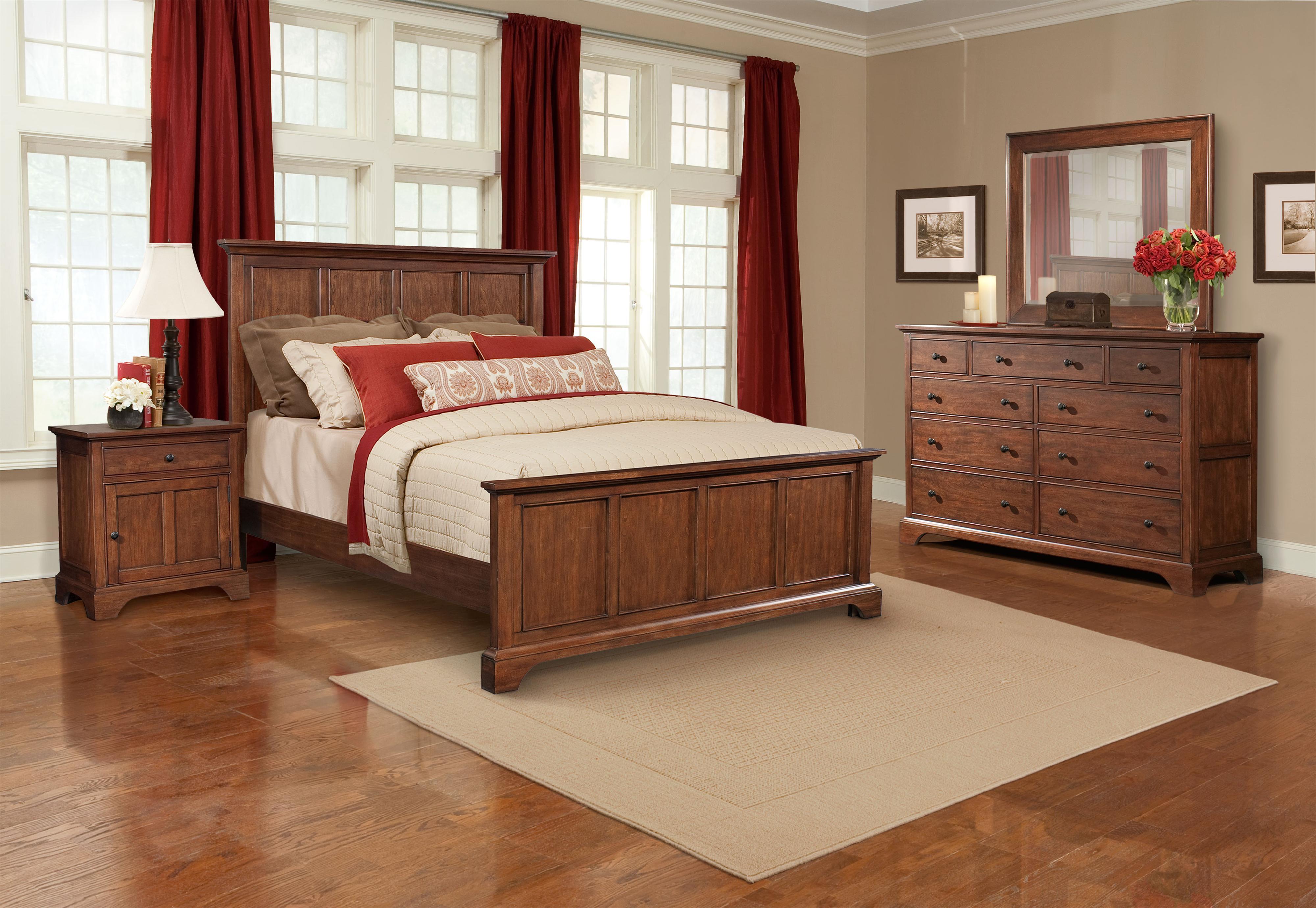 Cresent Fine Furniture Retreat Cherry King Sleigh Bed | Broyhill Of Denver  | Sleigh Bed Denver, Aurora, Parker, Highlands Ranch, Castle Rock, CO