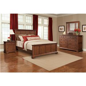 Cresent Fine Furniture Retreat Cherry Cal King Bedroom Group