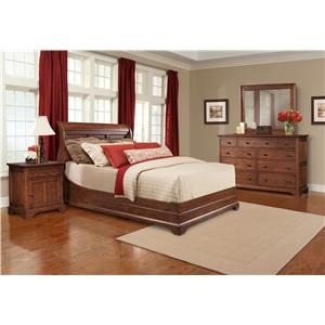 Cresent Fine Furniture Retreat Cherry King Bedroom Group