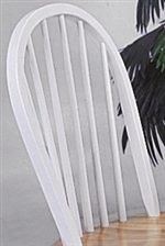 A Slat Back Design Offers Clean, Simple Style