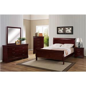 Crown Mark B3800 Louis Phillipe Twin Bedroom Group