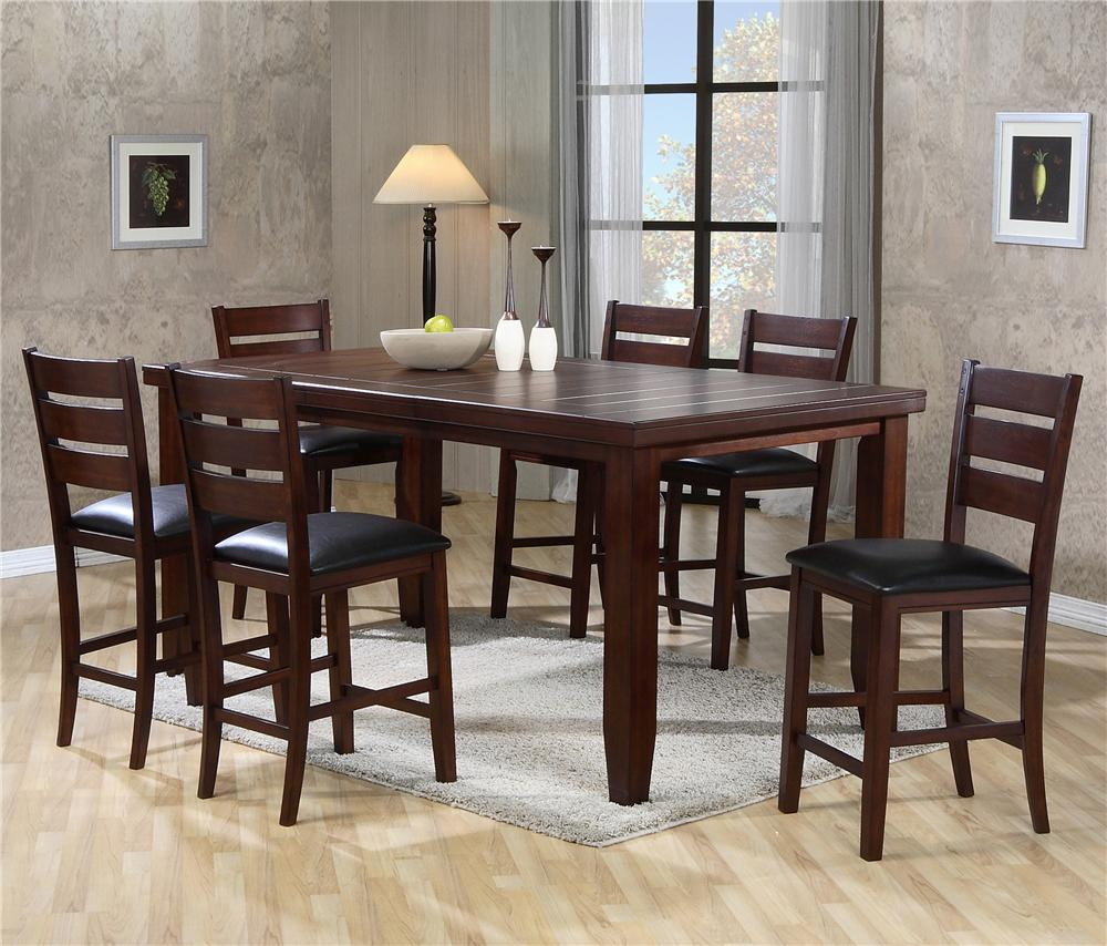 Crown Mark Bardstown Pub Table Set with Bench | Furniture Fair - North Carolina | Table u0026 Chair Set with Bench Jacksonville Greenville Goldsboro ... & Crown Mark Bardstown Pub Table Set with Bench | Furniture Fair ...