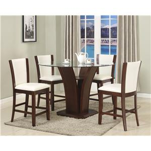 Crown Mark Camelia 5 Piece Espresso Pub Table & Stool Set
