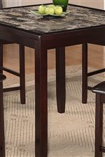 Features Beautiful Faux Table Top & Warm Cappuccino Woodwork