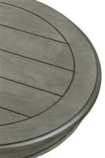 Round table top with plank design