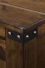 Crown Mark Curtis Rustic 9 Drawer Dresser and Beveled Mirror Combo