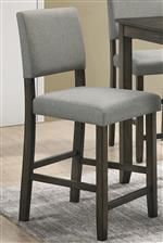 Grey fabric and contemporary tapered legs